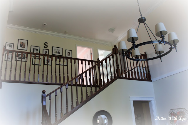 Foyer before and after / chandelier in foyer - So Much Better With Age