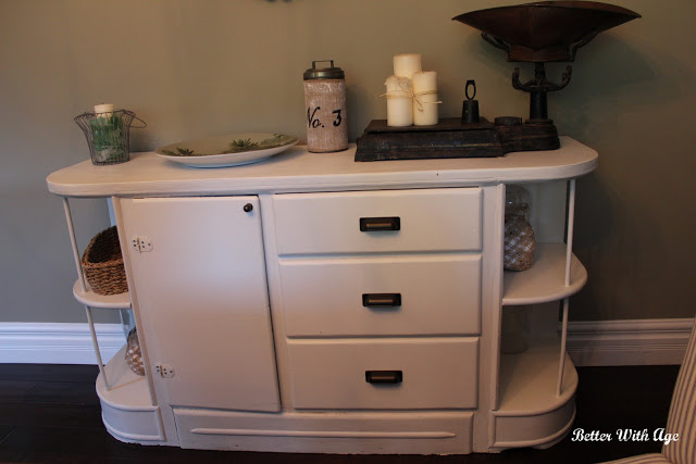 Painted cabinet www.somuchbetterwithage.com
