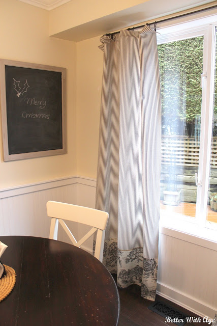 Kitchen eating area / chalkboard in nook - So Much Better With Age