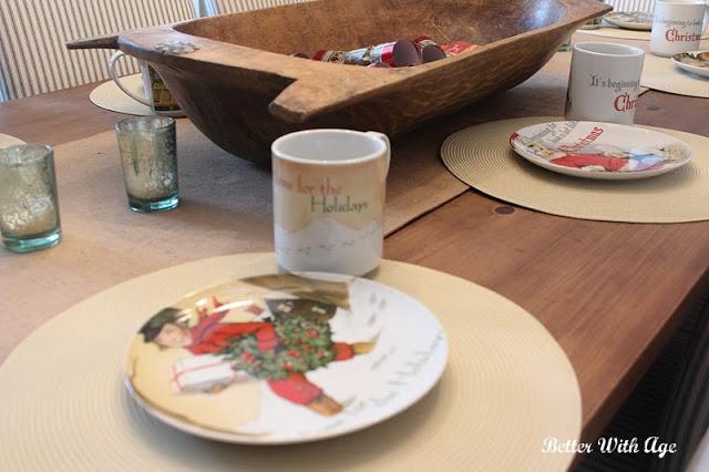 Pottery Barn Christmas mugs.