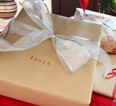 Simple Christmas Gift Wrap