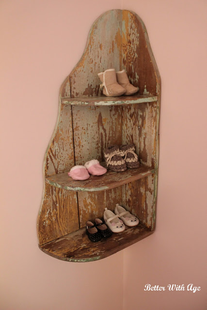 Nursery Room Reveal / shoe rack in nursery - So Much Better With Age