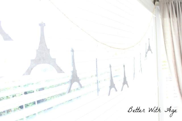Eiffel tower garland www.somuchbetterwithage.com