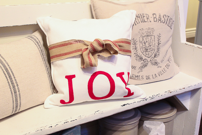 No Sew Christmas Pillow/red JOY pillow - So Much Better With Age