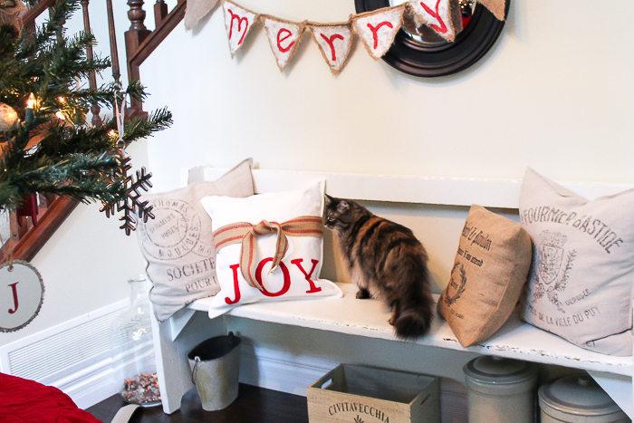 No Sew Christmas Pillow/red and white Christmas pillow - So Much Better With Age