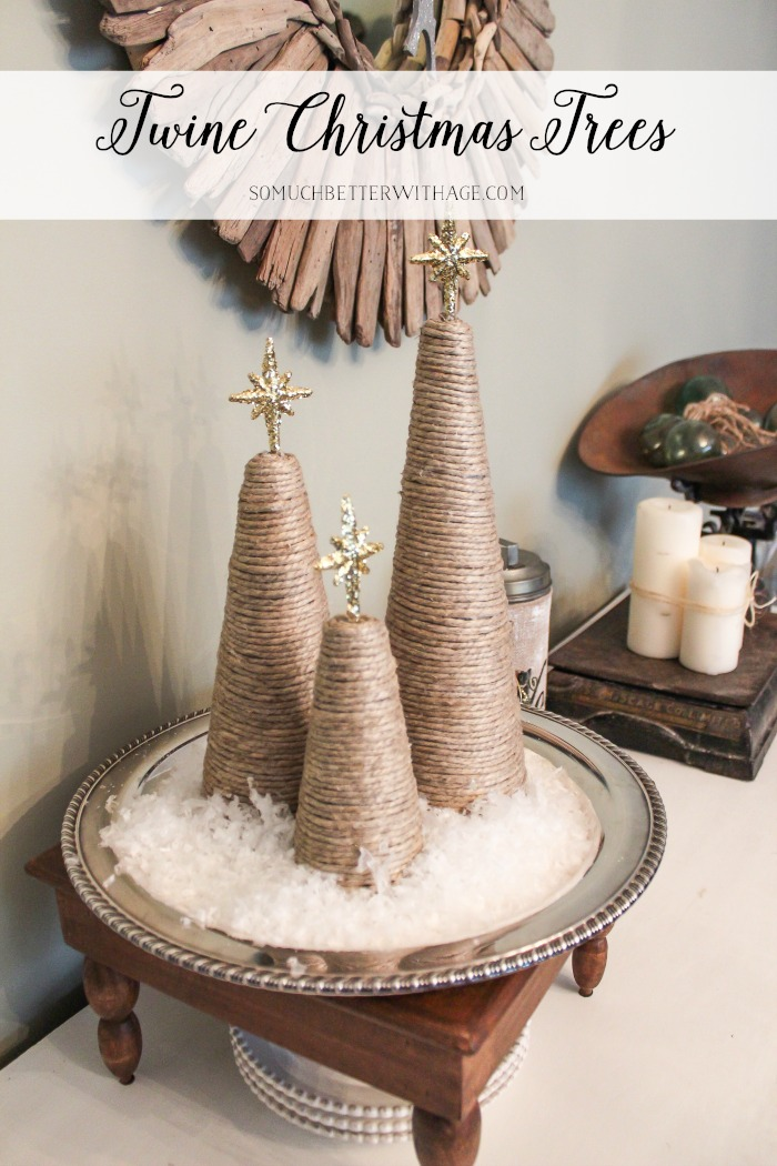 DIY Twine Christmas Trees - So Much Better With Age
