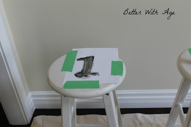Two little stools / painting stool number one - So Much Better With Age