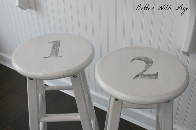 Two little stools / numbered stools - So Much Better With Age