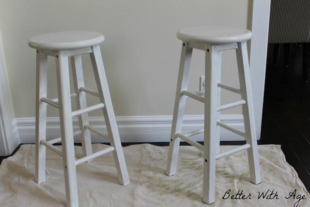 Two little stools / updating the stools - So Much Better With Age