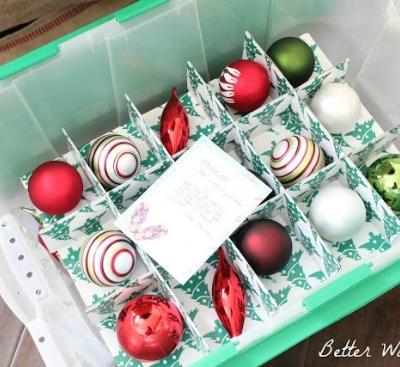 Organize Christmas Decorations