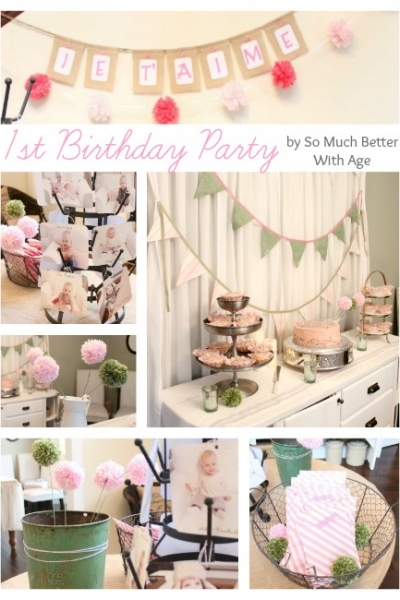 Party Curtains and Pompom Flowers!