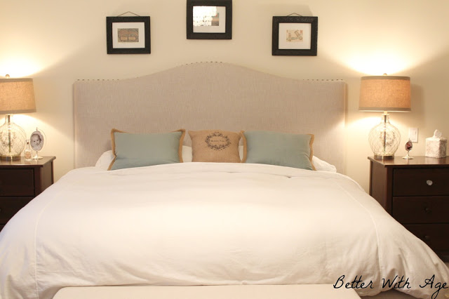 DIY / Upcycled bedskirt via somuchbetterwithage.com