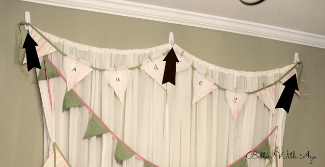 Party curtains and pompoms / hanging the curtains with 3m strips - So Much Better With Age