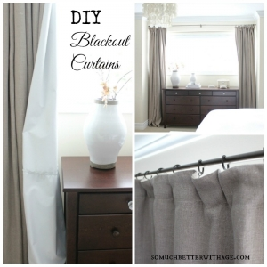 DIY Blackout Curtains poster.