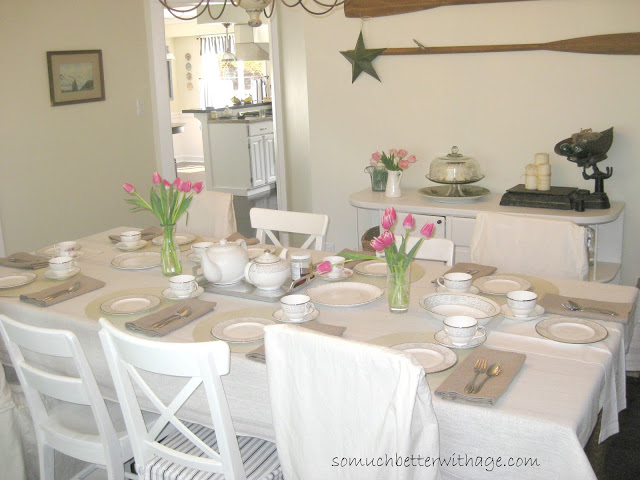 A spring table www.somuchbetterwithage.com