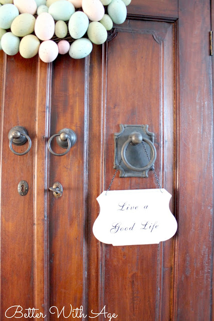Hello spring / door handles on armoire - So Much Better With Age
