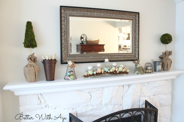 Hello spring / mantel decorated for spring - So Much Better With Age