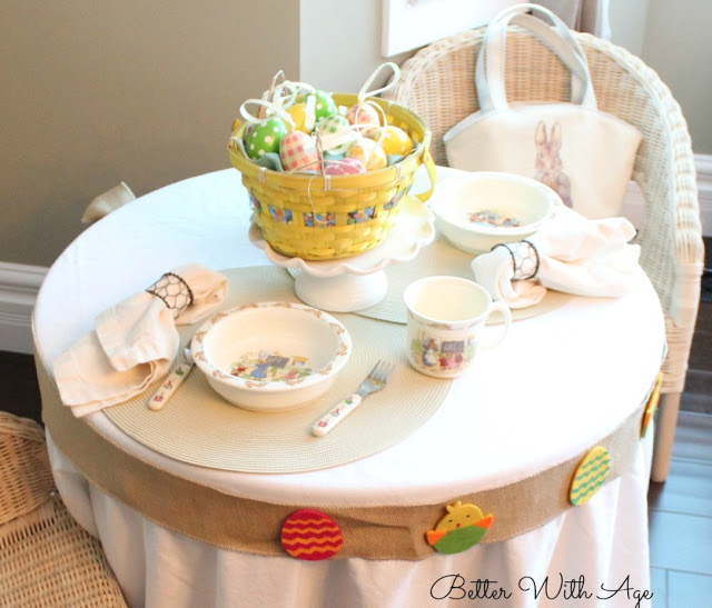 Kids Easter Table / Beatrix Potter china - So Much Better With Age