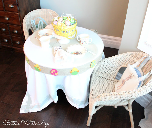 Kids Easter Table / easy Easter table setting - So Much Better With Age