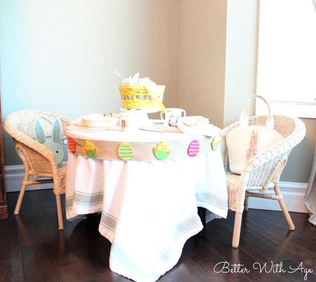 Kids Easter Table / table setting - So Much Better With Age