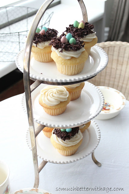 Spring nest cupcakes / pretty decorated cupcakes - So Much Better With Age