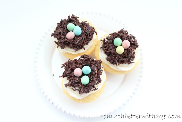 Spring cupcakes / little nests - So Much Better With Age