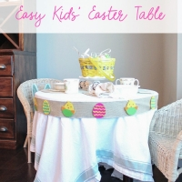 Easy Kids' Easter Table