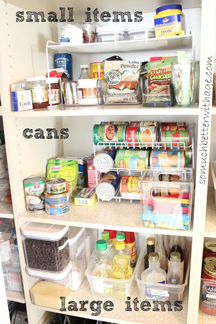 Pantry Reveal With Lots Of Tips / middle section of pantry - So Much Better With Age