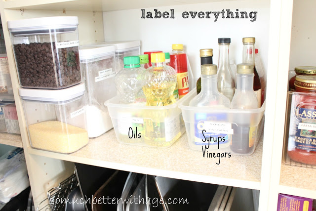 Pantry Reveal With Lots Of Tips / labels on everything - So Much Better With Age