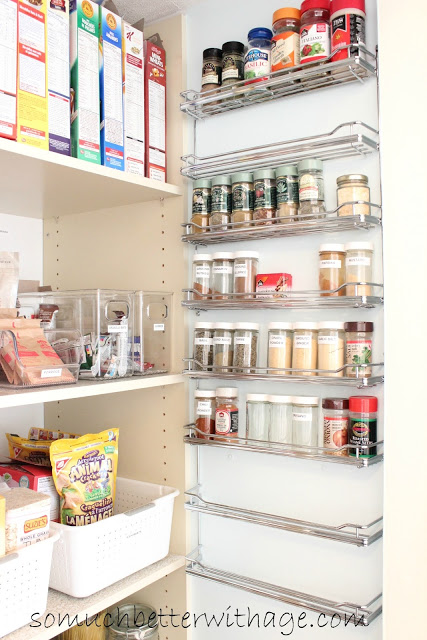 Pantry Reveal With Lots Of Tips / the right side of the pantry - So Much Better With Age