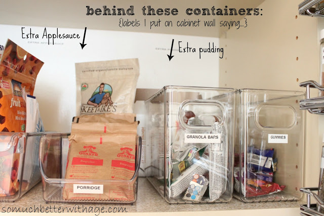 Pantry Reveal With Lots Of Tips / clear bins - So Much Better With Age