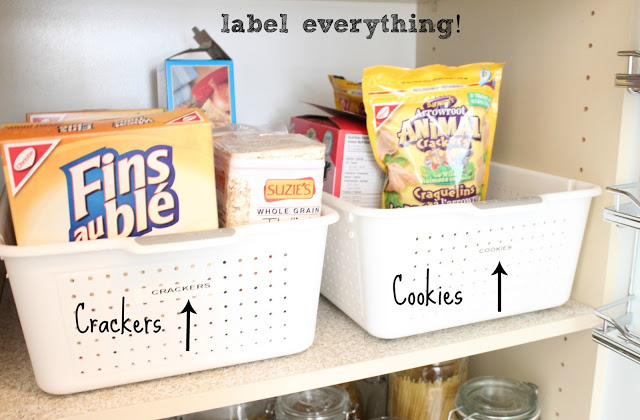 Pantry Reveal With Lots Of Tips / Labeled items in bins - So Much Better With Age
