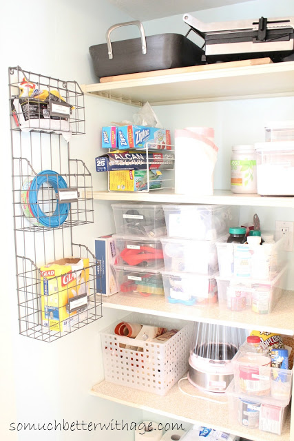 Pantry Reveal With Lots of Tips / putting the items back into the pantry after painting - So Much Better With Age