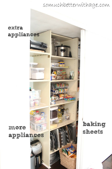 Pantry Reveal With Lots Of Tips / left side of pantry - So Much Better With Age