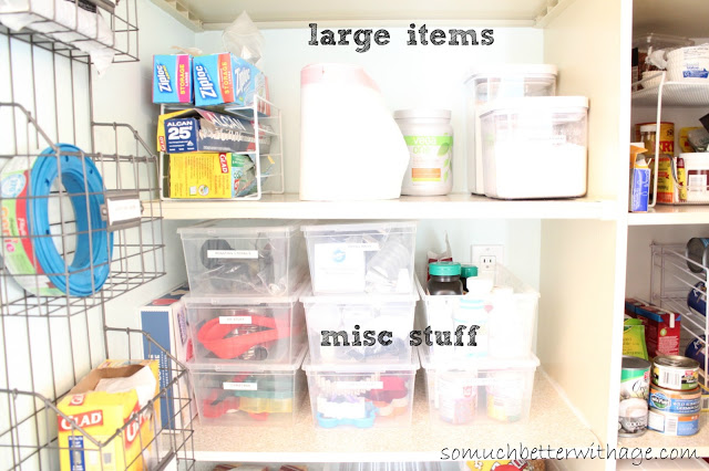 Pantry Reveal With Lots Of Tips / storage bins in pantry - So Much Better With Age