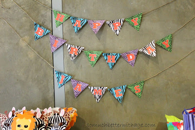 Safari birthday party / the safari themed birthday banner - So Much Better With Age