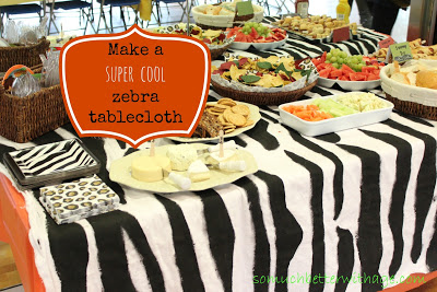 Safari birthday party / zebra tablecloth - So Much Better With Age