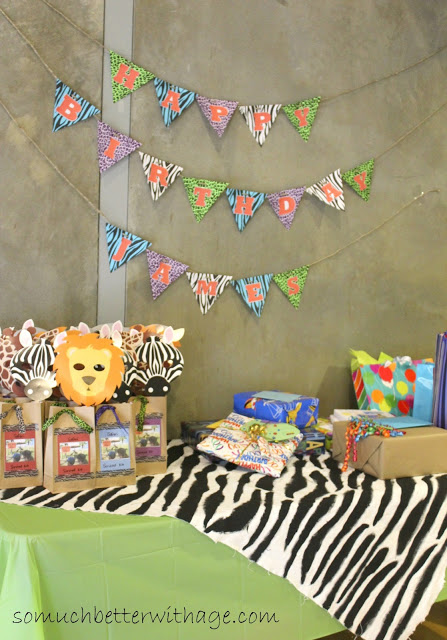 Safari birthday party / safari tablecloth - So Much Better With Age