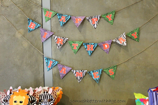 Safari birthday party / birthday banner - So Much Better With Age