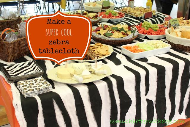 Safari Tablecloth and Cake & Giveaway!