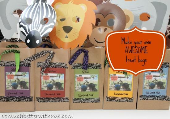 Safari Treat Bags and Birthday Banner
