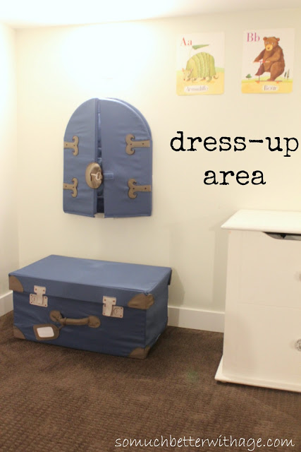 Basement before and after / kids pretend dress up area in basement - So Much Better With Age