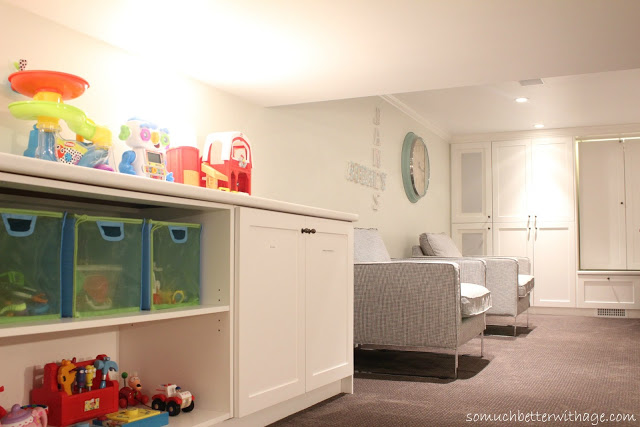 Basement before and after / kid friendly playroom - So Much Better With Age