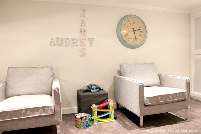Playroom details / kid's names on wall - So Much Better With Age