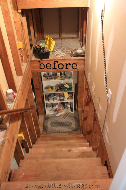 Playroom details / before picture of staircase - So Much Better With Age