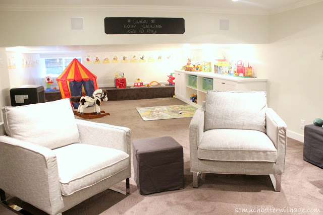 Playroom to man cave / toys in background - So Much Better With Age