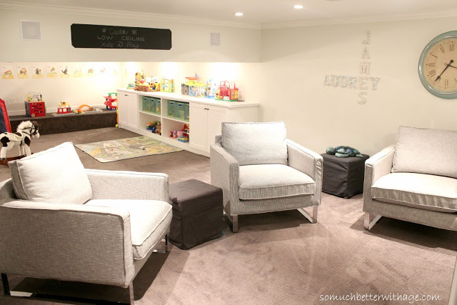 Playroom to man cave / dim lighting in room - So Much Better With Age