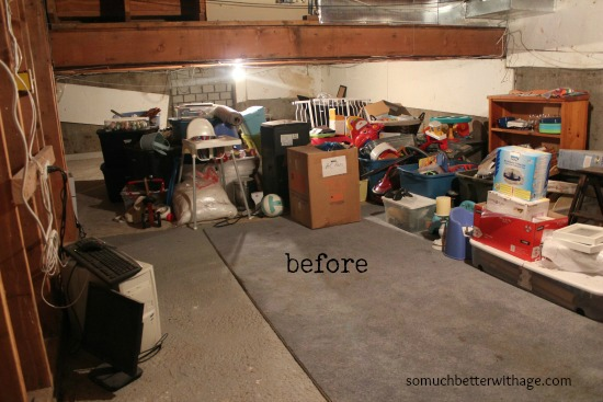 Basement before and after / before picture of cluttered basement - So Much Better With Age