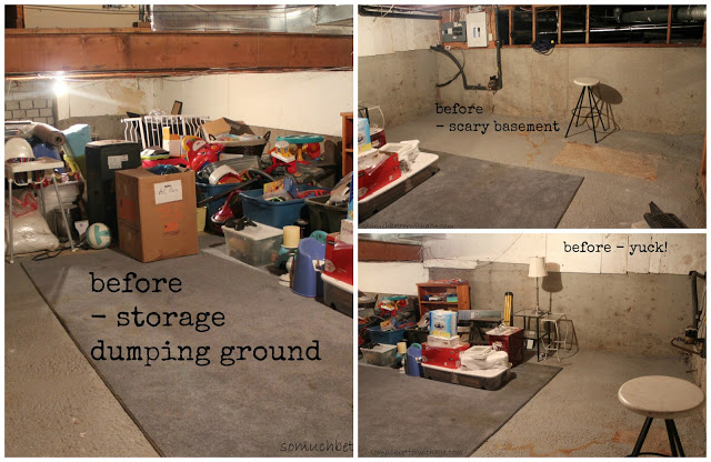 Playroom details / before picture of scary storage room - So Much Better With Age