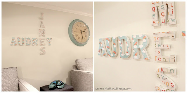 Playroom details / mod poged names on wall - So Much Better With Age